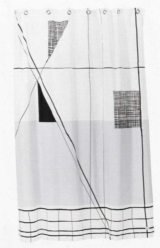 Trace Shower Curtain Design By Ferm Living