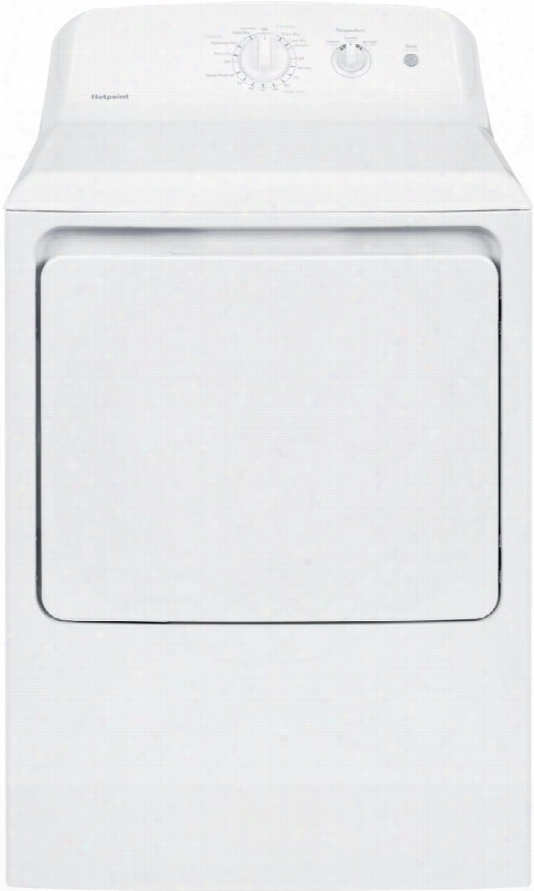"""Htx21gaskww 27"""" Front Load Gas Dryer With 6.2 Cu. Ft. Capacity 3 Dry Cycles Upfront Lint Filter 3 Temperature Selections Auto Dry And Aluminized Alloy"""