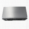 """RNHE4818S 48"""" Canopy Range Hood with Elegant Control Panel Four Fan Speed LED Lighting Dishwasher Friendly Clean Filter Indicator and Automatic On in"""
