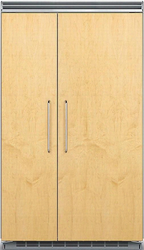 """Fdsb5483 48"""" Custom Panel Ready Side-by-side Refrigerator With Prochill Temperature Management Led Lighting Filter-free Freshness Metal Door Bins And"""