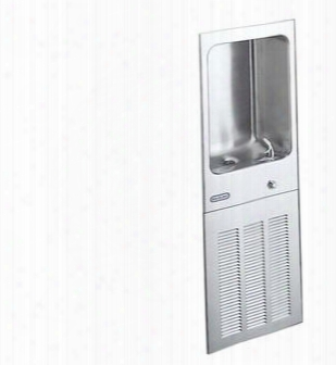 Ljnem8fk 8 Gph Ada Wall Munt Fully Recessed Filtered Cooler With Included Glass Filler And Front Pushbutton: Stainless