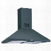"ALI36SS 36"" Island Mount Range Hood with 500 CFM Aluminum Mesh Filters Two 40W Candelabras and Slide Controls: Stainless"