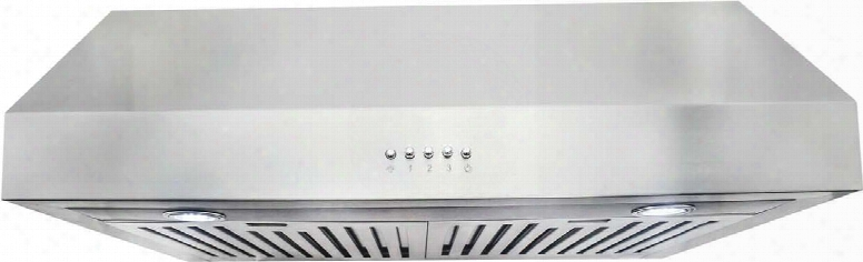 "Uc30 30"" Under Cabinet Hood With 760 Cfm 2 Heavy-duty Steel Baffle Filters 3-speed Push-button Controls And 20 Watt Halogen Lights In Stainless"