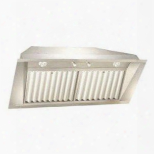 Uib58-1200 58&quuot; Power Pack Insert With 1200 Cfm 3-speed Control Baffle Filters Dimmer Light Switch And Reversible Duct In Stainless