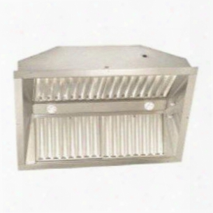 "Uibtf52-nb 52"" Custom Hood Insert With Variable Fan Control Baffle Filters And Dimmer Light Switch In Stainless"