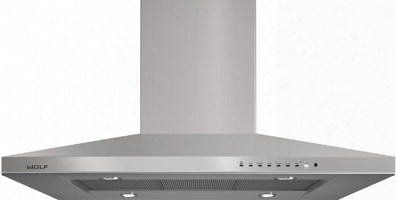 "Vi42s 42"" Chimney Island Hood With Dishwasher-safe Filters Heavy-gauge Stainless Steel Telescoping Chimney And 4 Led Lighting In Stainless"