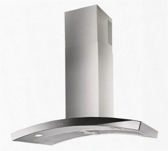"Wc35e90sb 36"" Dune Wall Mount Chimney Hood With Heat Sentry Clean Filte Rreminder Stainless Steel Mesh Grease Filters And Led Lighting: Stainless"