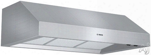 Bosch 800 Series Dph36 Pro-style Under-cabinet Range Hood With 600 Cfm Internal Blower, 2-speed Fan Control, Dishwasher-safe Mesh Filters And Convertible To Recirculating