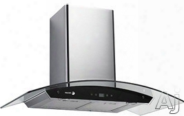 Fagor 60cfg30b Wall Mount Range Hood With 600 Cfm Internal Blower, 3 Speed Settings, Haloge Nsurface Lighting, Shut Off Delay Options And Dishwasher Safe Filters: 30 Inch Width