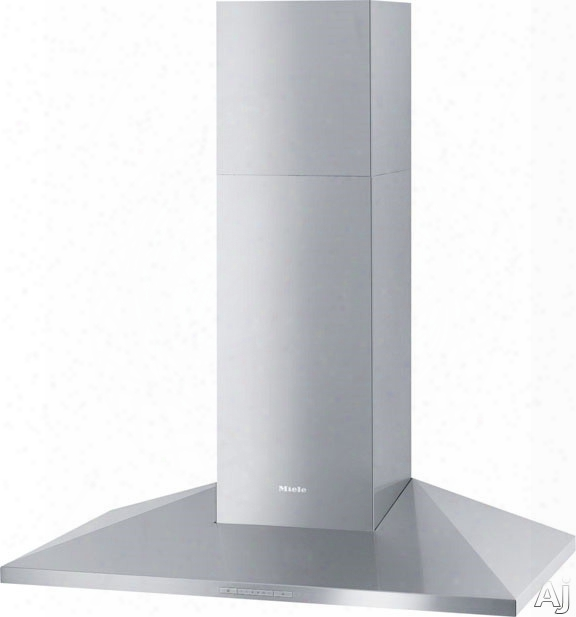 Miele Da3996 Wall Mount Chimney Hood With 625 Cfm Internal Blower, 4 Fan Speeds Including Intensive, Halogen Lighting, Metal Filters And Backlit Controls: 36 Inch Width