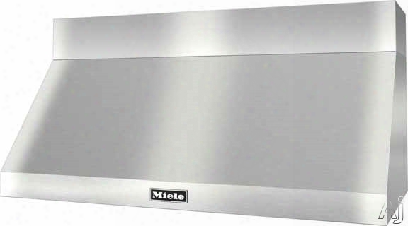 """Miele Range Hood Series Dar1250 Pro-style Wall-mount Canopy Range Hood With Safety Sensor, Led Lighting, Baffle Filters, Optional Blowers And 4 Fan Speeds Including Intensive: 48"""" Width"""