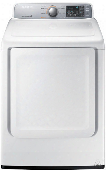 Samsung Dv45h7000e 27 Inch 7.4 Cu. Ft. Electric Dryer With 9 Dry Cycles, 3 Temperature Settings, Sanitize Cycle, Wrinkle Prevent, Lint Filter Indicator, Reversible Door And Sensor Dry Moisture Sensor