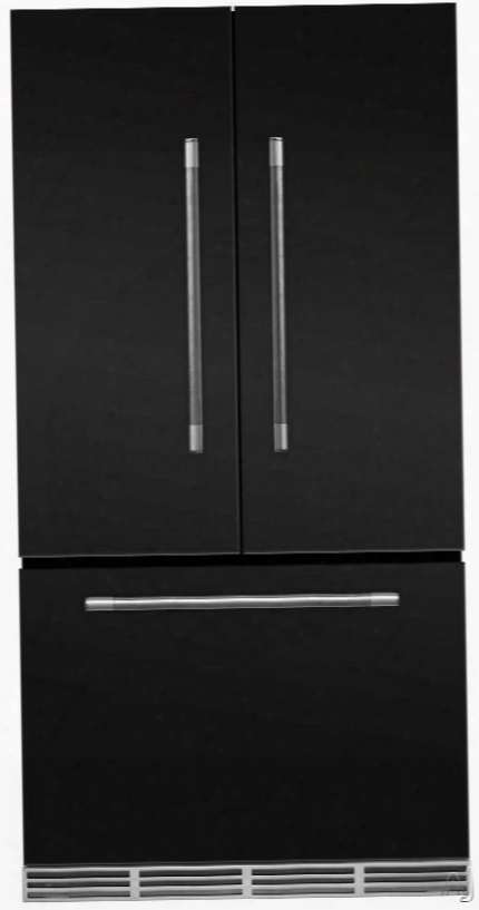 Aga Mercury Mmcfdr23mbl 36 Inch Counter Depth French D0or Refrigerator With Storage Drawer With 12 Temperature Settings, Ice Maker, Ice/water Filters, Cantilever Glass Shelves, Agllon Door Storage, Wine Rack, Can Racks, Star-k Sabbath Mode And 2.6 Cu Ft C