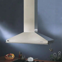 Best Iex222ss 48 Inch Island Chimney Hood With Multiple External/in-line Blower Options, 4-speed Push-button Electtronic Control, Four Halogen Lamps And Dishwasher Safe Mesh Filters