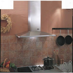 Best K3490cm 36 Inch Wall Mount Chimney Hood With 500 Cfm Internal Blower, 3-speed Push Button Control, 2 Halogen Lamps And Dishwasher Safe Mesh Filters