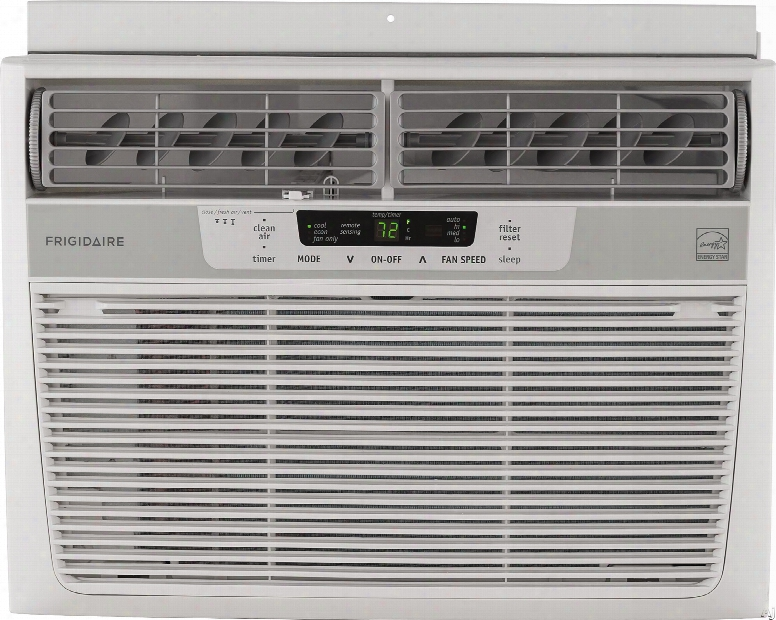 Frigidaire Ffre1033s1 10,000 Btu Compact Room Air Conditioner With 285 Cfm, 3 Fan Speeds, Effortless Remote Temperature Control, 24-hour Timer, Clean Air Ionizer, Effortless Clean Filter, Energy Saver Mode, Ready Select Controls, Remote Control And Energy