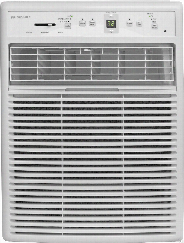 Frigidaire Ffrs0822s1 8,000 Btu Room Air Conditioner With 263 Cfm, 3 Fan Speeds, Effortless Temperature Control, 24-hour Timer, Energy Saver Mode, Effortlesss Restart, Clean Filter Alert, Spacewise Adjustable Side Panels And Remote Control