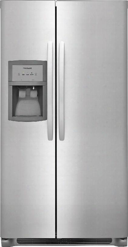 Frigidaire Ffss2625ts 36 Inch Side-by-side Refrigerator With Puresourceã'â® Filtration, Ready-selectã'â® Controls, Filter Alert, Control Lock,store-moreã¢â�žâ¢ Shelves, Storee-moreã¢â�žâ¢ Gallon Bins, Store-moreã¢â�žâ¢ Drawers, Adjustable Interior Storage