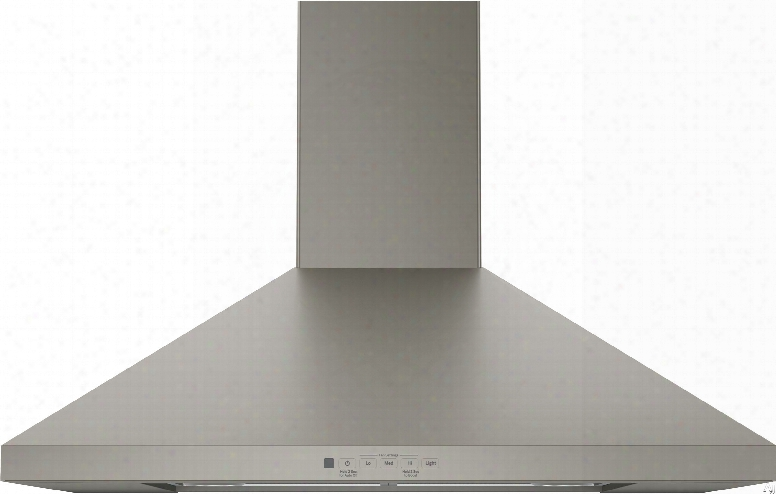 Ge Jvw5301ejes 30 Inch Wall Mount Chimney Hood With Recirculating Option, 350 Cfm Blower, Dishwasher Safe Filters, Auto-off, Optional Remote Control, Halogen Lighting And Night Light