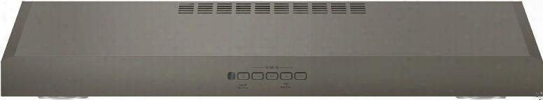 Ge Jvx5300ejes 30 Inch Under Cabinet Range Hood With 4 Speeds, 300 Cfm, Dishwasher Safe Filters, Halogen Lighting, Optional Remote Control And Convertible To Recirculating: Slate