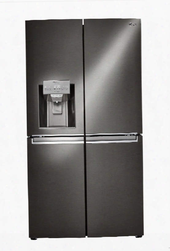 Lg Lnxs30866d 36 Inch 4-door French Door Refrigerator With Door-in-doorã'â® S/ Coldsaver Panelã¢â�žâ¢, Fold-out Mini-table, Ice And Water Dispenser, Slim Spaceplusã'â® Ice System, Cantilevered Spillprotectorã¢â�žâ¢ Sheling, Fresh Air Filter, Energy Star