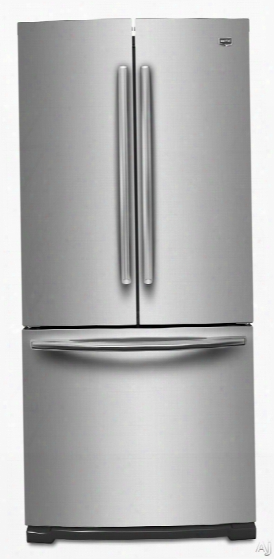 Maytag Mfb2055ye 19.6 Cu. Ft. French Door Refrigerator With Adjustable Glass Shelves, Strongbox Door Bins, Freshflow Air Filter, Led Lighting And Energy Star Qualified