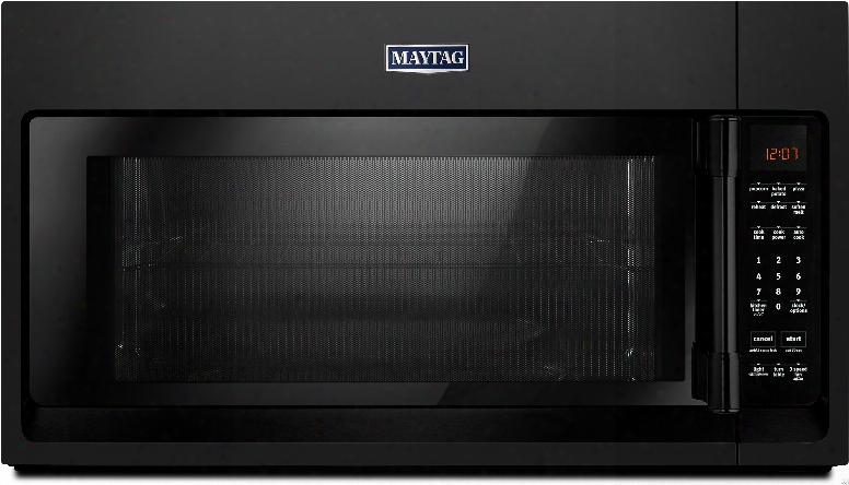 Maytag Mmv4206fb 2.0 Cu. Ft. Over-the-range Microwave Oven With 1,000 Cooking Watts, 400 Cfm, Sensor Reheat, Mulgiple Speed Exhaust Fan, Charcoal Odor Filter And Control Lock: Black