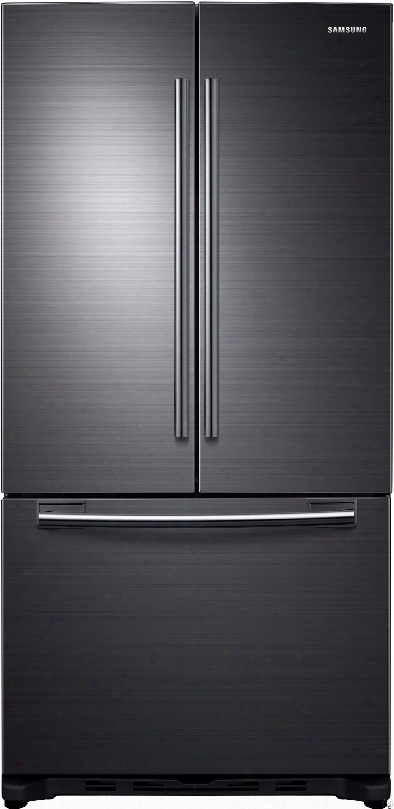 Samsung Rf20hfenbsg 33 Inch French Door Refrigerator With 19.43 Cu. Ft. Capacity, 2 Full Width Glass Shelves, 2 Gallon Door Bins, Twin Cooling System, Surround Air Flow, Led Lighting And Automatic Filtered Ice Maker: Black Stainless Steel