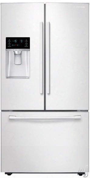 Samsung Rf23hcedbww 36 Inch French Door Refrigerator With Twin Cooling Plusã¢â�žâ¢ System, Coolselect Pantryã¢â�žâ¢, Ez-openã¢â�žâ¢ Handle, Adjustable Three-way Shelf, Led Lighting, Ice Maker, External Filtered Ice/water Dispenser, 22.5 Cu. Ft. Capacity A