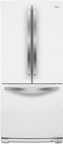 Whirlpool Wrf560smyh 30 Inch French Door Refrigreator With Freshflow Preserver, Freshflow Filter, Temperature Controlled Pantry ,19.6 Cu. Ft. Capacity, Spillsaver Glass Shelves, Humidity-control Crispers, Ice Maker And Energy Star: White Ice