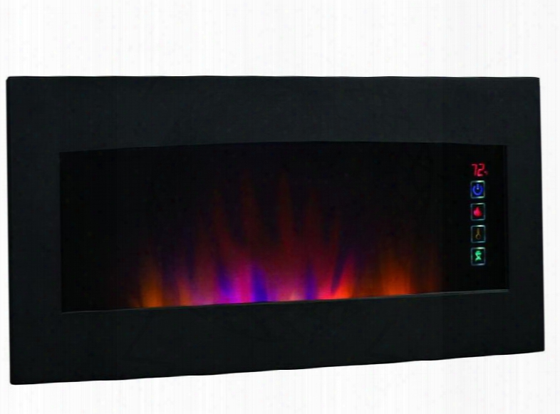 34hf600gra Serendipity Wall Hanging Electric Fireplace With Touch Screen Function Quiet Spectrafire Blue Flamse And Multi-function Remote Control In