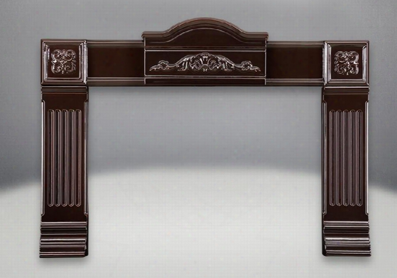 """Ciskn+ak9 Cast Iron Surround Kit With Adapter Kit In Porcelain  Enamel Majolica Brown (covers Opening Smaller Than 28"""" H X 46"""