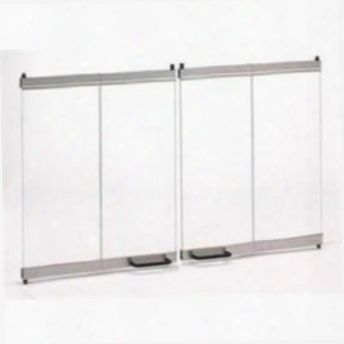 "Dm1742s Original Bi-fold Glass Doors For 42"" Wood Burning Fireplaces With Stainless Steel"