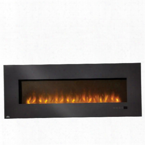 "Efl72h 72"" Slimline Wall-mount Electric Fireplace With 5000 Btus / 1500 Watts Heating Capacity Linear Glass Front Glass Ember Bed Touch Screen Electronic"