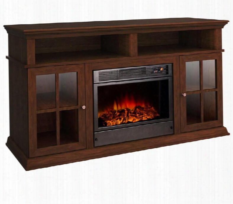 L17s16 Alessandro Electric Fireplace With 9 Flame Adjustments 400 Sq. Ft. Heating Capacity Automatic Fan Heater Remote Control Included And Light Bulb In