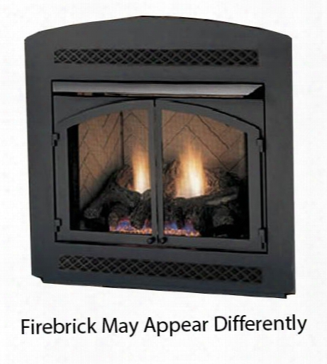 "Mcuf42d-r 42"" Magnum Vent Free Firebox With Herringbone Firebrick Radiant Design Csa Design And Large Viewing"