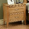 220661 Firefly 3 Drawer Nightstand with Full Extension Drawer Glides English Dovetail Drawer Boxes and Hidden Storage in a Wheat