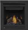 "Ascent Series B30NTR 30"" Direct Vent Natural Gas Fireplace with Millivolt Ignition Up to 15 000 BTU's Pan Style Burner Standard Safety Barrier PHAZER Log"