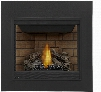 "Ascent Series B35NTE 35"" Direct Vent Natural Gas Fireplace with Electronic Ignition Up to 20 000 BTU's Pan Style Burner Standard Safety Barrier PHAZER Log"