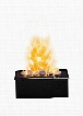 """DFI400RH Opti-Myst 16"""" Electric Fireplace Cassette with Heat Receptacle Rocks Opti-Myst Technology Easy-Fill Water Tank and Year-Round"""
