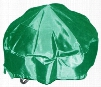 """DM-RC-RF-G 40"""" Round Fire Pit Cover with PVC Coated Oxford Fabric Fire Pit Cover and Draw String in"""