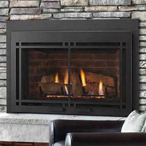 "Ruby Series Mdvi35il 35"" Direct Vent Liquid Propane Fireplace Insert With Intellifire Plus Ignition System (ipi+) Up To 31 500 Btus And Rc200 Remote"