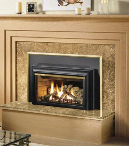 "Gdizc-n 36"" Basic Direct Vent Fireplace Insert Natural Aeriform Fluid Remote Ready Glass"