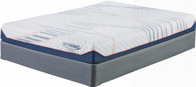 8 Inch Mygel Collection M75611-m81x12 Set Of Mattress And Foundation In Twin