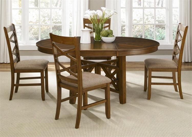 "Bistro Collection 64-cd-ots 48"" - 66"" Oval Table With Intersecting X Base Block Tapered Legs And 18"" Butterfly Leaf In Honey"