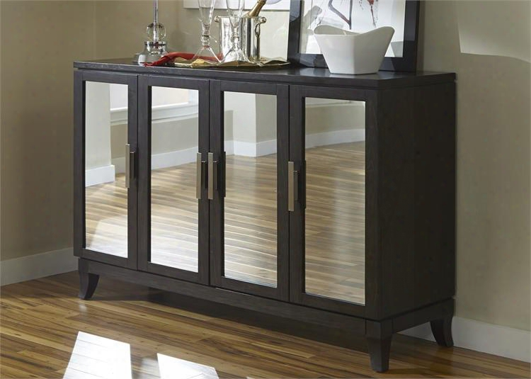 """Platinum Collection 861-sr6038 60"""" Server With Three Hidden Drawers Behind Center Doo Rs And Adjustable Shelves Behind Side Doors In Satin Espresso"""