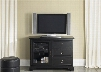 "Beacon Collection 453-TV44 44"" TV Console with Glass Door 3 Drawers and Adjustable Shelf in Black"