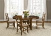 Bistro Collection 64-CD-5OTS 5-Piece Dining Room Set with Oval Table and 4 Side Chairs in Honey
