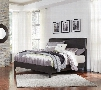 Daltori Collection B273-58-56 King Size Panel Bed with Clean Line Design Tapered Footboard Legs and Replicated Oak Grain Finish in