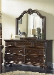 Highland Court Collection 620-BR-DM 2-Piece Bedroom Set with Dresser and Mirror in Rich Cognac